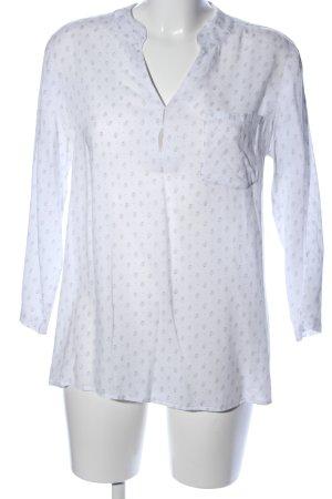Opus Langarm-Bluse weiß abstraktes Muster Casual-Look