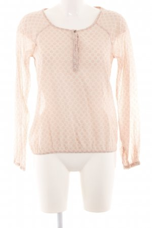 Opus Langarm-Bluse creme Allover-Druck Casual-Look