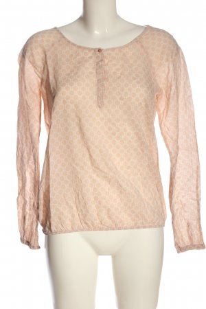 Opus Long Sleeve Blouse nude-white allover print casual look