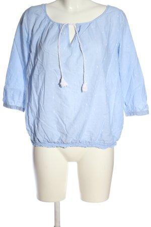 Opus Langarm-Bluse blau Casual-Look