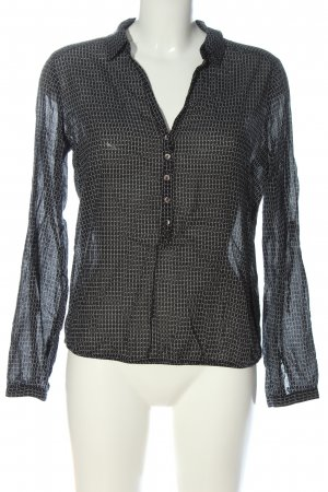 Opus Long Sleeve Blouse black-white allover print casual look