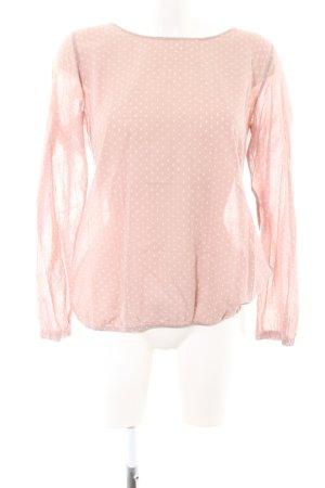 Opus Langarm-Bluse pink Punktemuster Business-Look