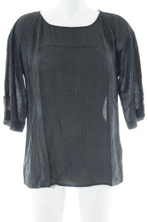 Opus Langarm-Bluse schwarz-grau grafisches Muster Casual-Look