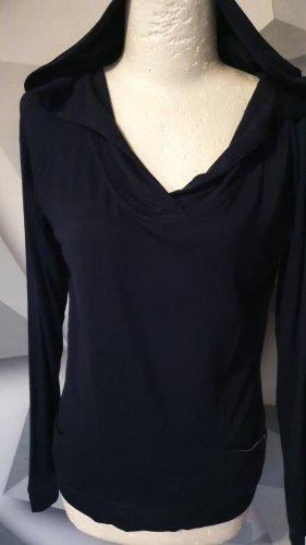 Opus V-Neck Shirt dark blue
