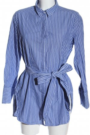 Opus Langarmhemd blau-weiß Allover-Druck Casual-Look