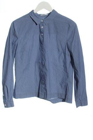 Opus Camicia a maniche lunghe blu motivo a righe stile casual