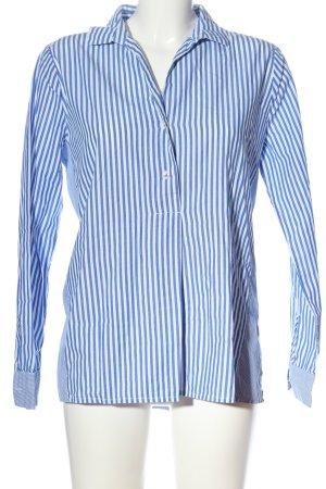 Opus Langarmhemd blau-weiß Streifenmuster Business-Look
