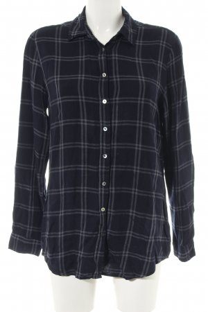Opus Long Sleeve Shirt black-light grey check pattern casual look