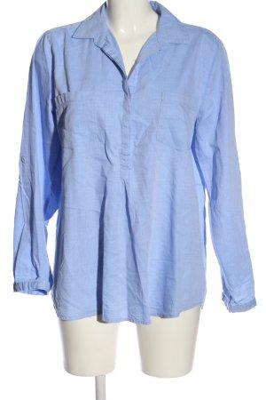 Opus Langarmhemd blau Business-Look