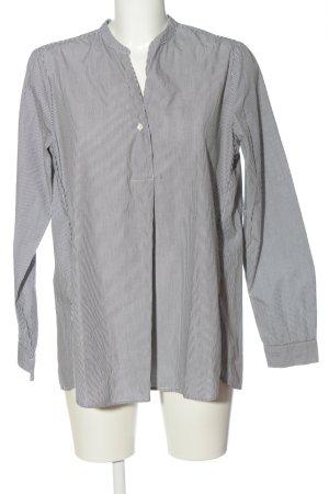 Opus Langarmhemd schwarz-weiß Allover-Druck Casual-Look