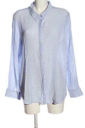 Opus Langarmhemd blau Streifenmuster Casual-Look