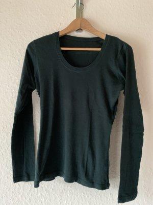 Opus Langarmshirt dunkelgrün Basic