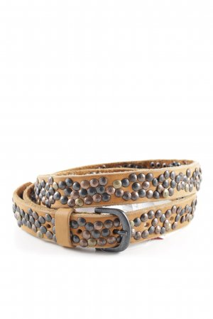 Opus Leather Belt beige-black extravagant style