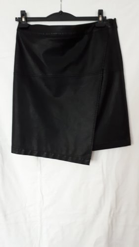 Opus Faux Leather Skirt black