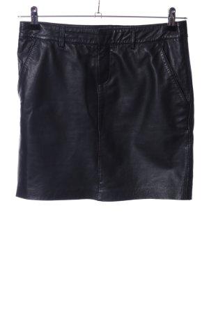 Opus Leren rok zwart casual uitstraling