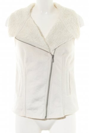 Opus Leather Vest natural white casual look