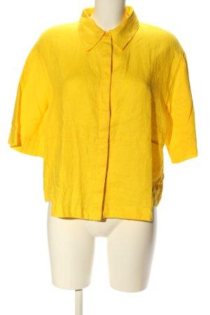 Opus Blouse en lin jaune primevère style décontracté