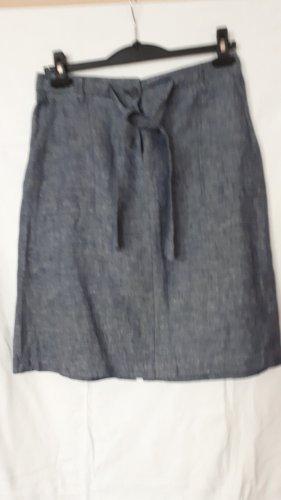 Opus Linen Skirt slate-gray-dark blue