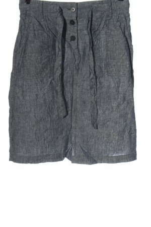 Opus Linen Skirt blue-white flecked casual look