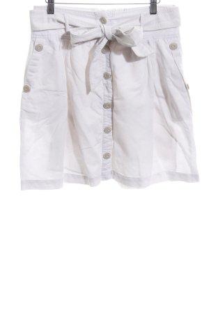 Opus Falda de lino blanco look casual