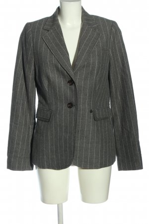 Opus Long-Blazer hellgrau-weiß Allover-Druck Business-Look
