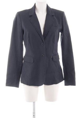Opus Lange blazer lichtgrijs zakelijke stijl