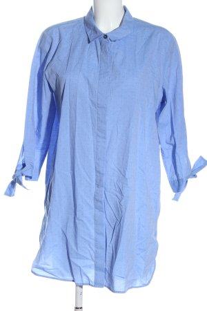 Opus Long-Bluse blau Allover-Druck Casual-Look