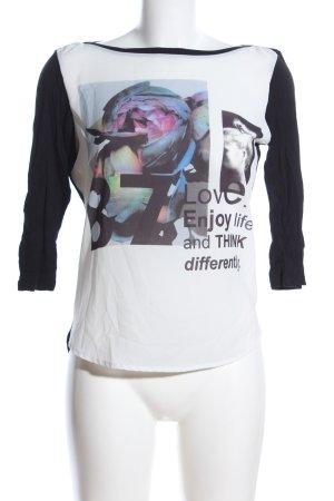 Opus Longshirt Motivdruck Casual-Look