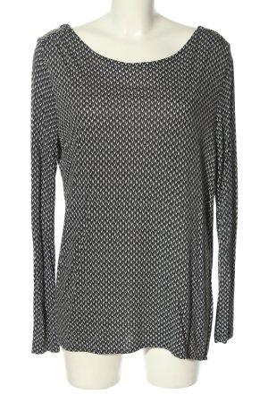 Opus Longsleeve hellgrau-weiß abstraktes Muster Casual-Look