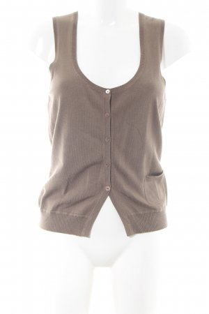 Opus Long Knitted Vest bronze-colored mixture fibre