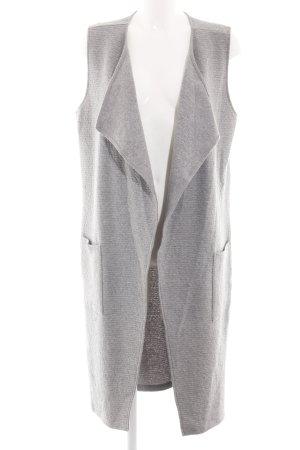 Opus Gilet long tricoté gris clair style décontracté