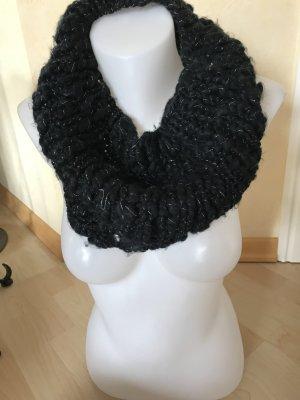 Opus Loop Rundschal schwarz mit silbernfärben