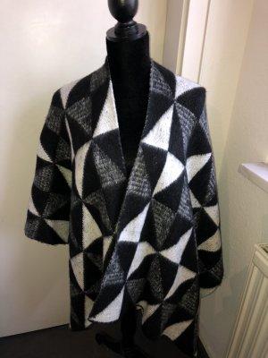 OPUS Marken Cape Poncho Strickjacke Schal Muster