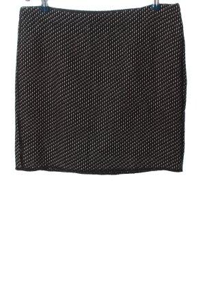 Opus Minirock schwarz-weiß Allover-Druck Casual-Look