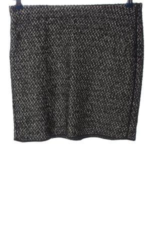 Opus Minirock schwarz-weiß abstraktes Muster Casual-Look