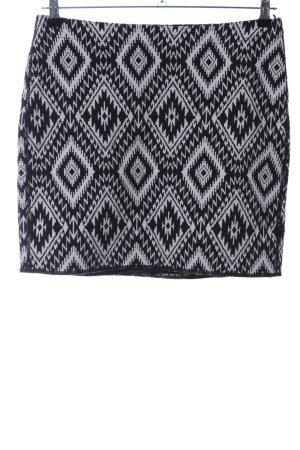 Opus Minifalda negro-blanco estampado repetido sobre toda la superficie