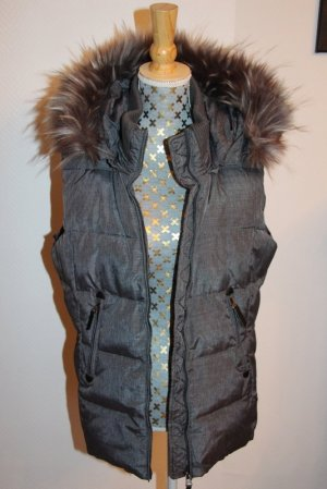 Opus Quilted Gilet grey mixture fibre