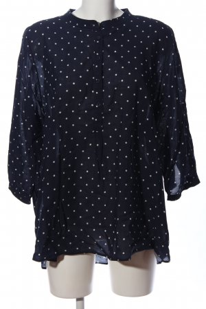 Opus Oversized Blouse black-white allover print business style