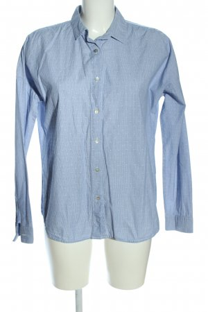 Opus Oversized Bluse blau-weiß Allover-Druck Business-Look