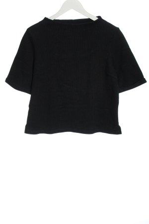 Opus Camicia oversize nero motivo a righe stile casual