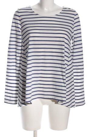 Opus Oversized Shirt blau-weiß Streifenmuster Casual-Look