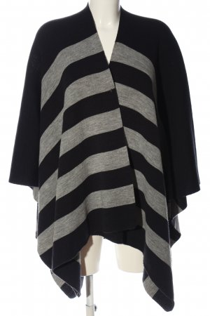 Opus Poncho black-light grey striped pattern casual look