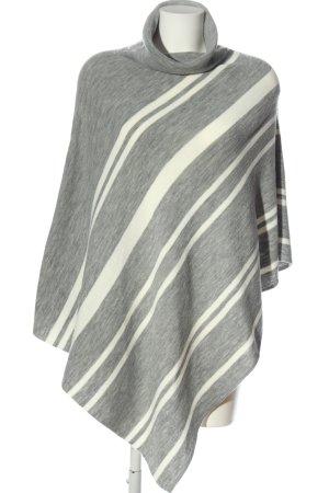 Opus Poncho light grey-white striped pattern elegant