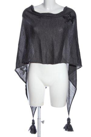 Opus Poncho gris clair Motif de tissage style décontracté