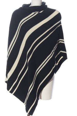 Opus Poncho schwarz-weiß Streifenmuster Casual-Look