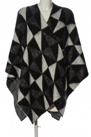 Opus Poncho abstraktes Muster Casual-Look