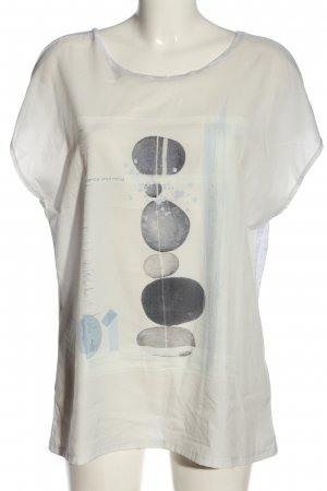 Opus Print-Shirt wollweiß-hellgrau Motivdruck Elegant