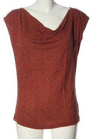 Opus Print-Shirt braun-wollweiß Allover-Druck Casual-Look