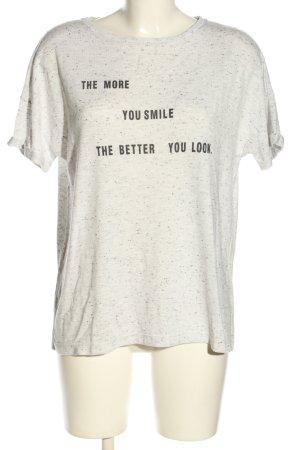 Opus Print-Shirt weiß meliert Casual-Look