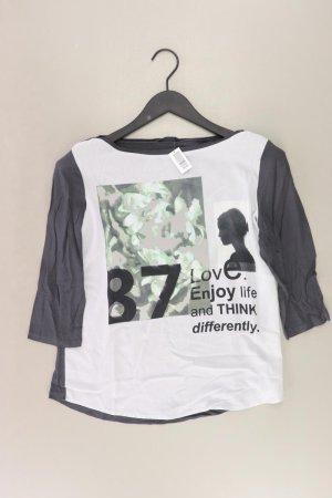 Opus Printshirt Größe 40 3/4 Ärmel grau